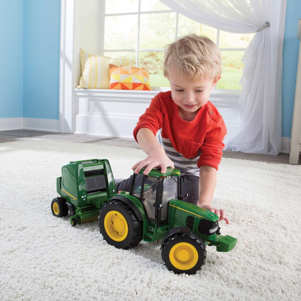 Farm Tractor Electronics : John deere ertl big farm tractor baler
