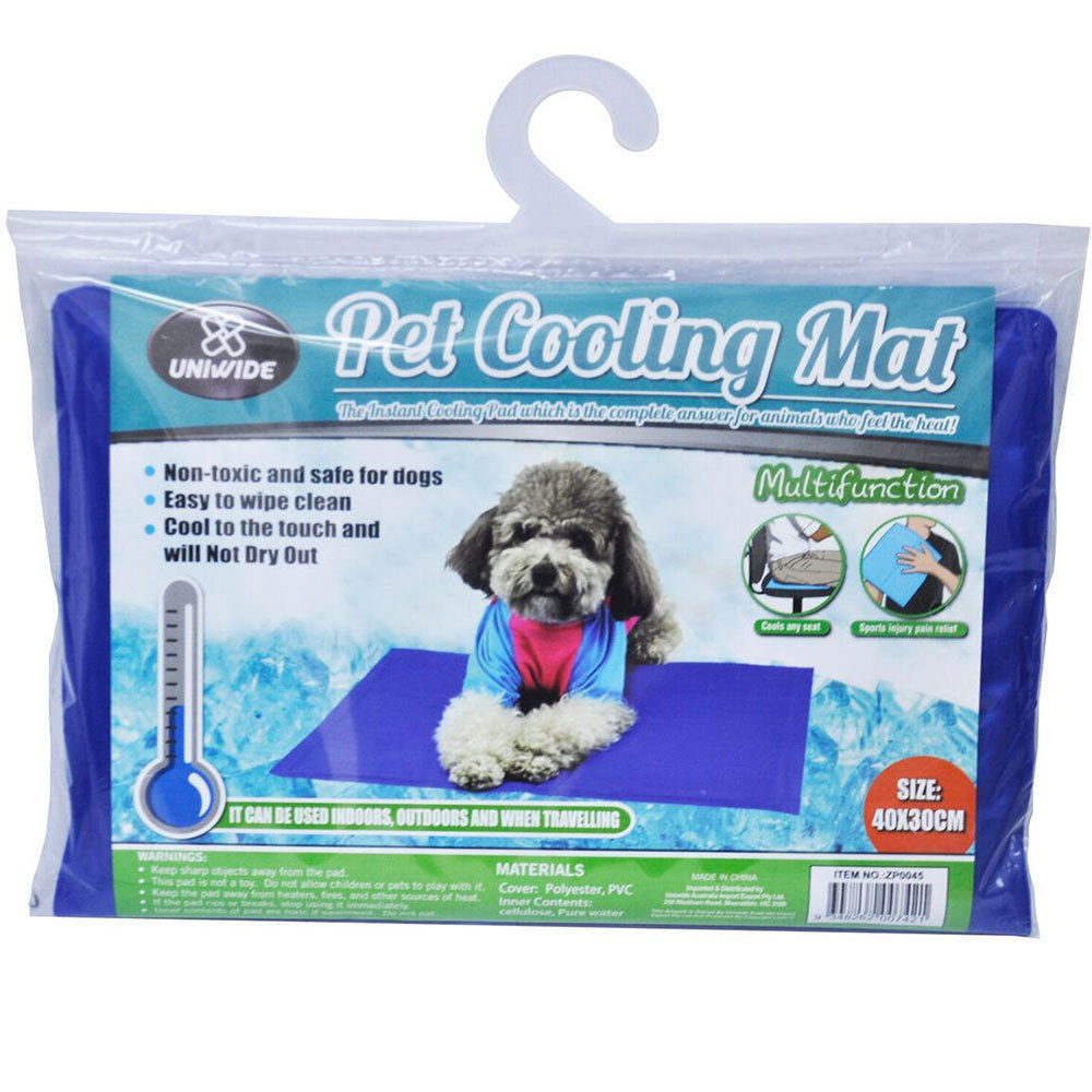 pet people cooling pad mat dog cat non toxic 40x30cm. Black Bedroom Furniture Sets. Home Design Ideas