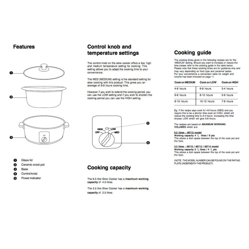morphy richards slow cooker instructions 48710