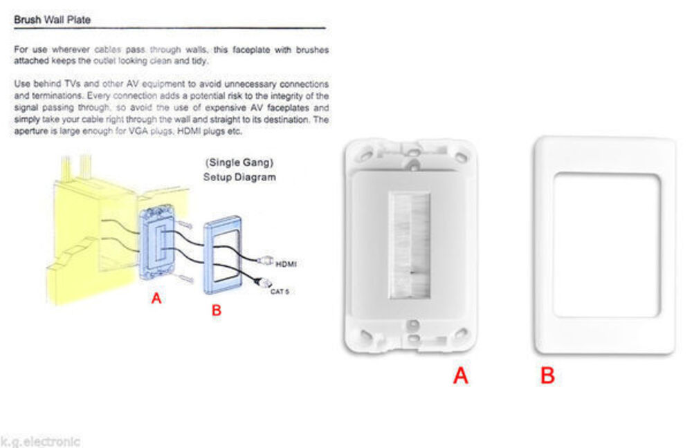 Wall-Plate-Brush-Wallplate-Outlet-Cover-for-Cable-Lead-Management-organiser-Tidy thumbnail 10