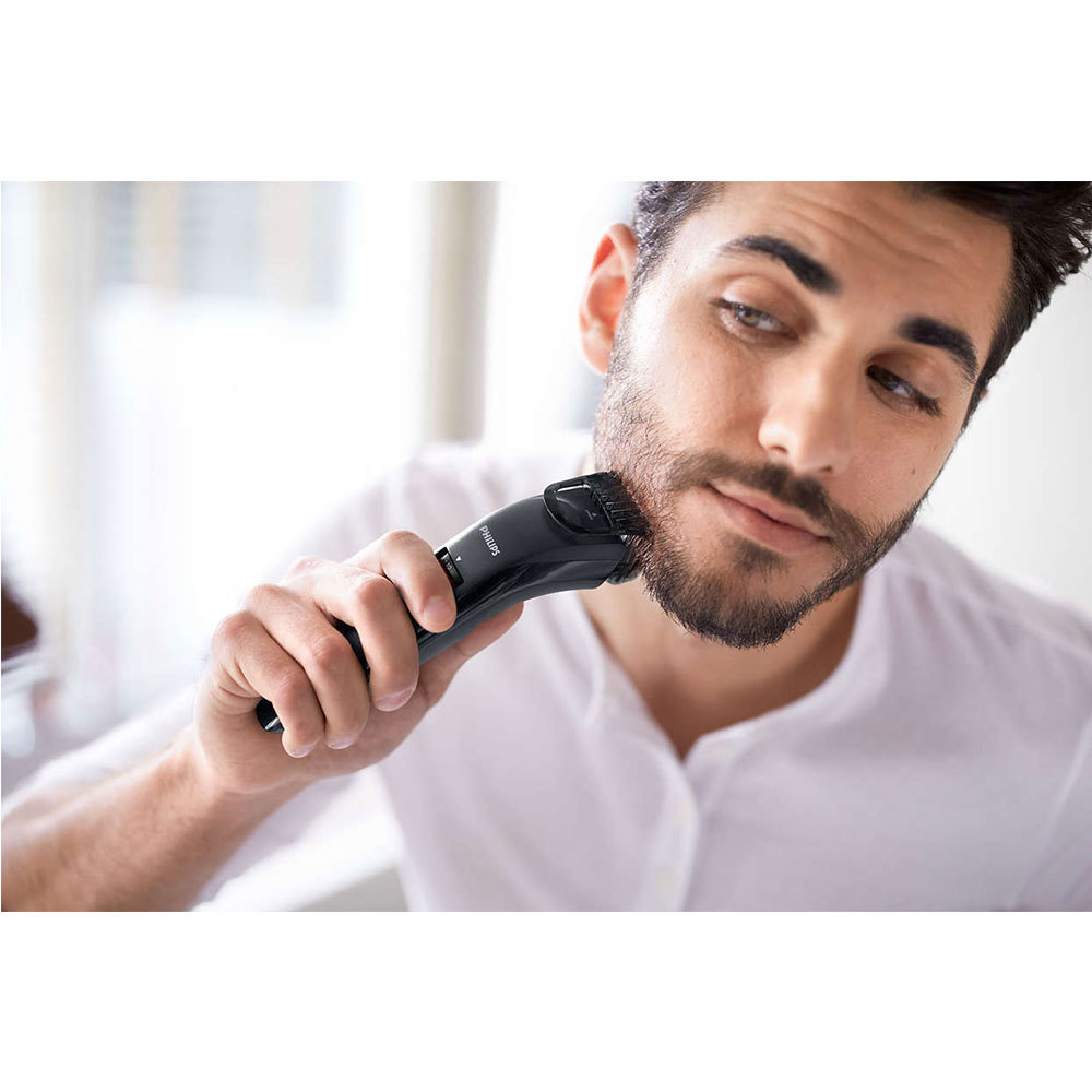 philips qt4005 series 3000 beard stubble trimmer cordless rechargeable clipper ebay. Black Bedroom Furniture Sets. Home Design Ideas