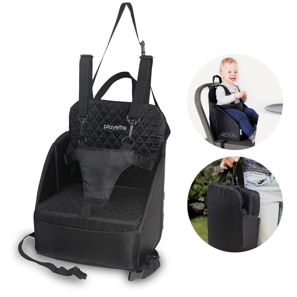 portable baby booster seat toddler infants dining chair harness safety fold up ebay. Black Bedroom Furniture Sets. Home Design Ideas