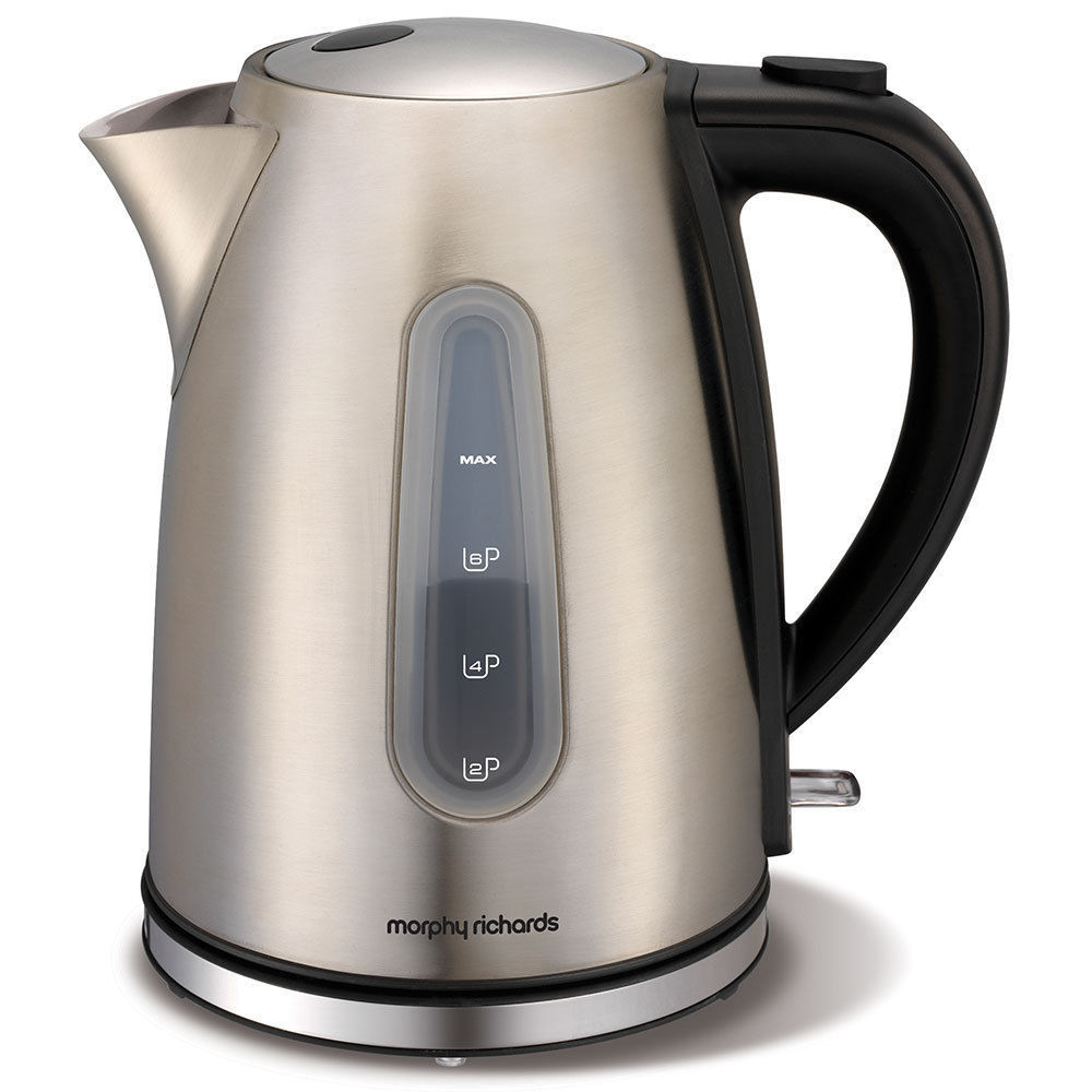 Morphy Richards Kettle: Morphy Richards 43902 Accents Kettle Cordless Brushed Stainless Steel 1.5L Jug
