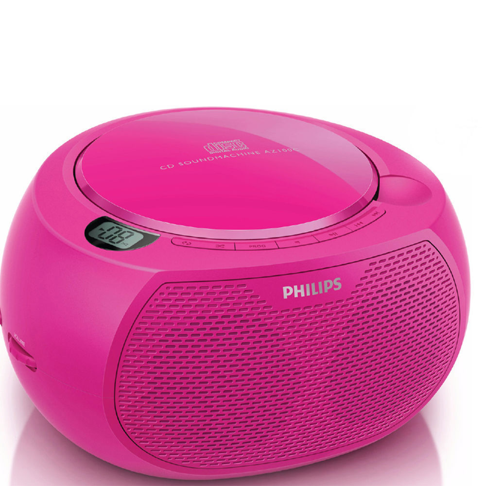philips az100c pink portable fm radio cd player boombox online kg electronic. Black Bedroom Furniture Sets. Home Design Ideas
