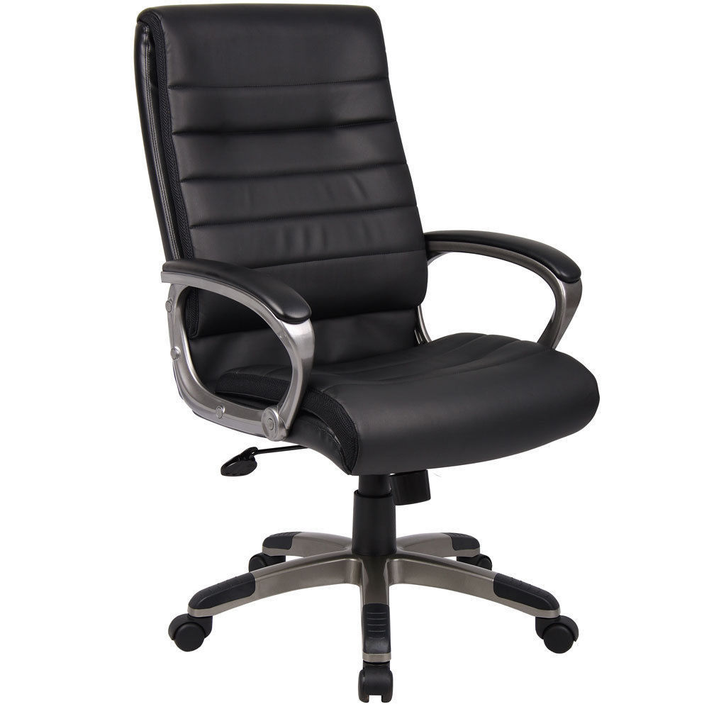 capri executive office chair black pu leather w high back