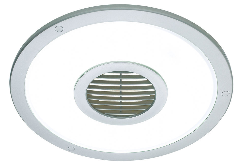 Silver Heller Round 250mm Ceiling Light/Exhaust Fan/Air