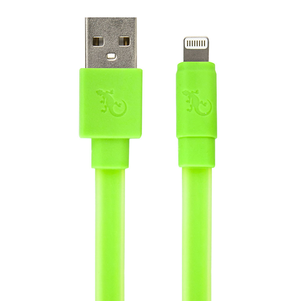 Gecko 12m Green Glow In The Dark Flat Lightning Cable For Ipod Ipad Wiring Harness Iphone