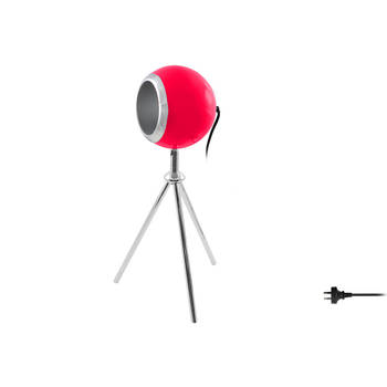 48Cm Pink Tripod Spotlight Metal Lamp Light Retro Vintage/Desk/Bedside Table
