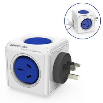 Blue Powercube Original 2 Socket Power Board w/ Dual USB Port