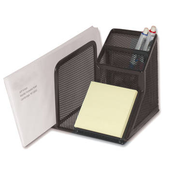 Black Mesh Desk Cup Holder Organiser