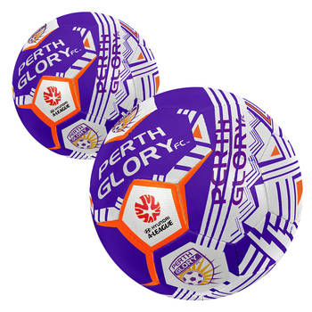 2x Summit Size 5 A-League Perth Glory Soccerball