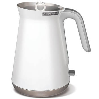 White Morphy Richards 1.5L Stainless Steel Aspect Cordless Kettle Water Boiler
