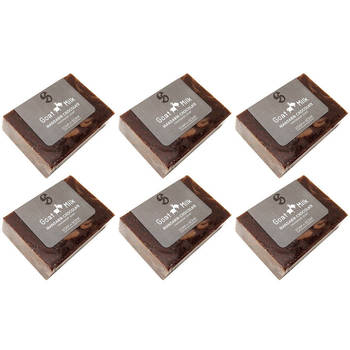 Natural Handmade Soap Goat Milk Mandarin Chocolate 150g 6 Pack