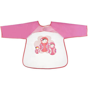 Babushka Character Long Sleeve Water Food Resistent Bib/Smock For Baby/Toddler