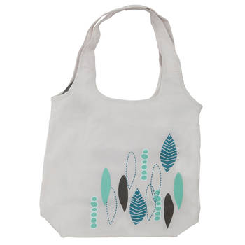 Playette PVC Free Shopping Bag for Stroller Cream/Leaf