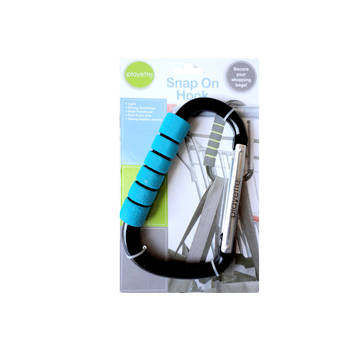 Playette Snap On Clip Hook/Carabiner Holder For Handbag/ Shopping/ Tote/ Nappy Bag/ Backpack/ Trolley/School Bag/ Stroller/ Pram/