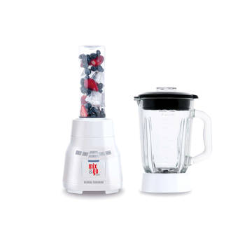 21820Au George Foreman Mix Healthy Drink Fruit Ice Crusher Bottle & Jug Blender