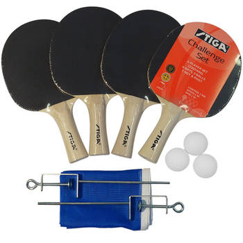 Stiga Challenge 4 Player Table Tennis Set With Net