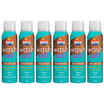 6PK Le Tan Wash Off Instant Spray Tan Dark Bronze
