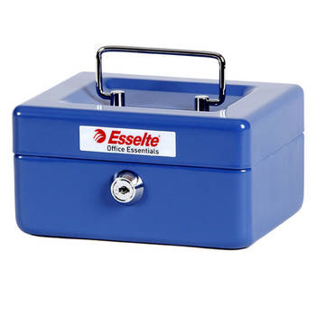 Esselte Cash/Money Box/Tin No6 Steel Blue