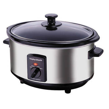 Oval Stainless Steel Slow Cooker 3.5L