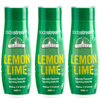 3x SodaStream Classics Lemon Lime Mix 440ml