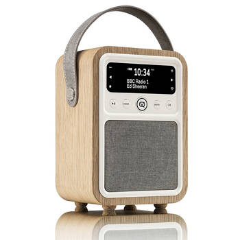 VQ Monty DAB+/Digital Radio/FM/Bluetooth/Alarm Clock - Oak