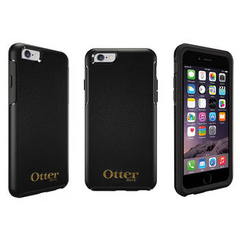 Otterbox Black Symmetry Leather Protective Drop Case Cover for iPhone 6+/6s Plus