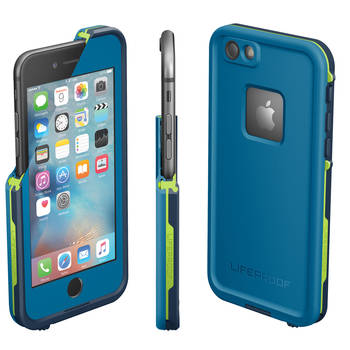 Blue Lifeproof Fre Tough Case Cover Waterproof Shockproof for iPhone 6+/6s Plus