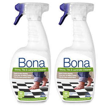 2PK Bona 1L Stone Tile & Laminate Spray