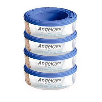 Angelcare 4PK Baby Nappy Diaper Disposal Cassette Refills