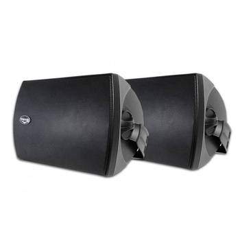 Klipsch Aw-525 Black 300W Outdoor Speaker Pair W/ Wall Mount/Paintable Grille