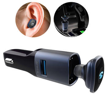 Smart Car Charger Bluetooth Hands Free Headset