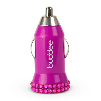 USB Car Charger 2.1 Amp Bling - Pink