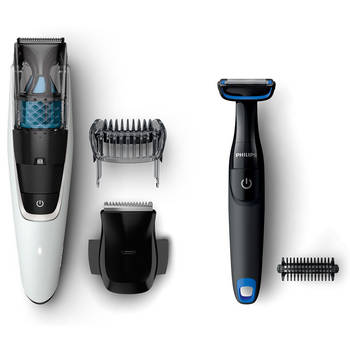 Philips BT7204/85 Vacuum Precision Hair Trimmer with Body Groomer
