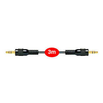 3m Aux Gold Plated Cable 3.5mm Male To Male