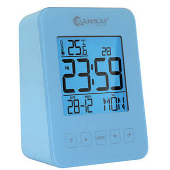 Sansai LCD Alarm Clock Blue