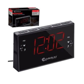 Sansai PPL AM/FM Dual Alarm Clock Radio