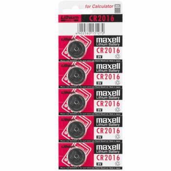 1PC Pack Maxell Cr2016 3V 90Mah Lithium Battery Button Cell/Coin For Calculator
