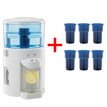 Lenoxx 5L Bench Top Water Filter Dispenser Cooler Cooling + 6 pack replacement