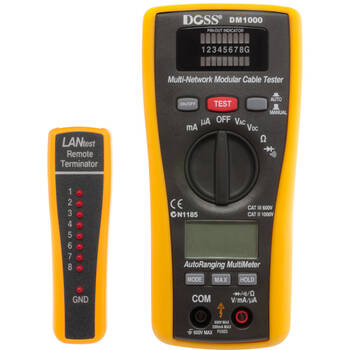 Doss Dm1000 2 In 1 Lan Tester & Multimeter Combo Dmm