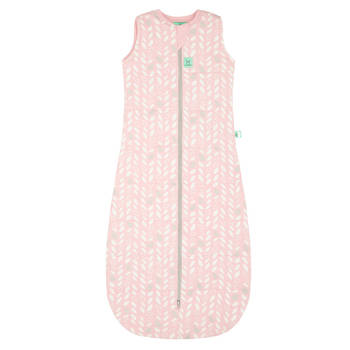 Organic Cotton Jersey Sleeping Bag TOG: 2.5 Size 8-24 Months - Spring Leaves