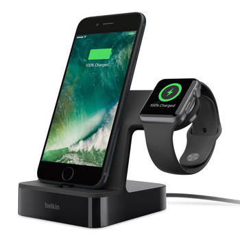PowerHouse Charge Dock for Apple Watch + iPhone - Black