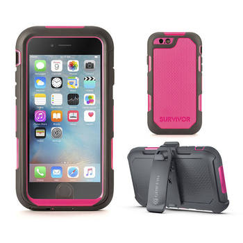 Survivor Summit Pink Slim Rugged Case for iPhone 6 6S