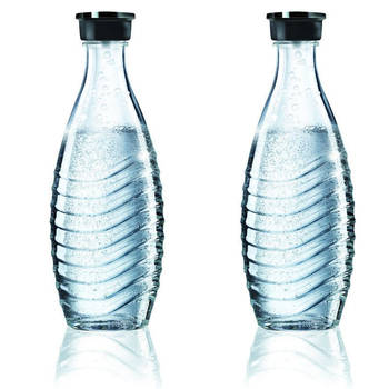 2X Sodastream Glass Carafe 600Ml Spare For Crystal & Penguin Drinks Makers
