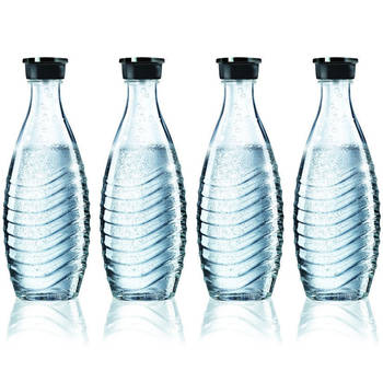 4X Sodastream Glass Carafe 600Ml Spare For Crystal & Penguin Drinks Makers