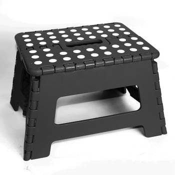 22cm Black Plastic Folding Step Stool