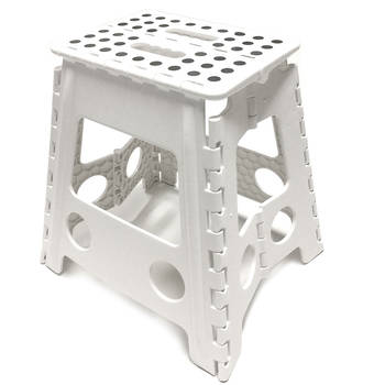 39cm White Plastic Folding Stool