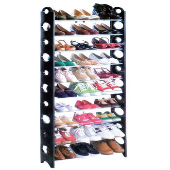 Stackable Standing Shoe Rack for 30 Pairs of Shoes