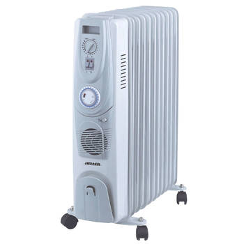 Heller 2400W 11 Fin Oil Heater W/Timer and Fan